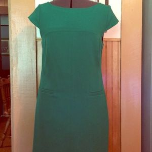 Vince Camuto cap sleeve shift emerald green size 8